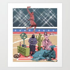 The Dunk Contest Art Print