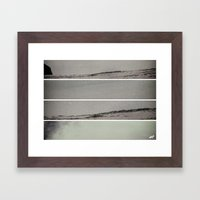 Surf Noise V1 Framed Art Print