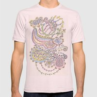 Delicate Paisley Mens Fitted Tee Light Pink SMALL