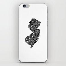 Typographic New Jersey iPhone & iPod Skin