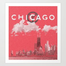 Chicago - Red Art Print