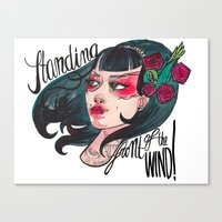 Vindy Canvas Print