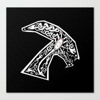 Celtic xenomorph Canvas Print
