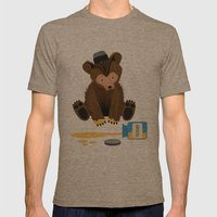 The Honey Bear Mens Fitted Tee Tri-Coffee SMALL