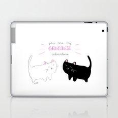 white cat - black cat moonrise kingdom quote Laptop & iPad Skin