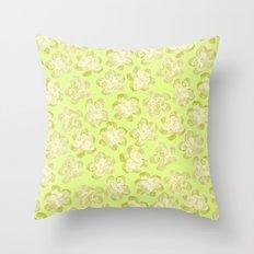Wallflower - Butter Yellow Throw Pillow