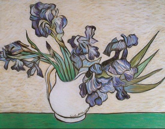 Irises, After Van Gogh Art Print