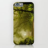 iPhone & iPod Case featuring Misty Woodland Lane by John Dunbar