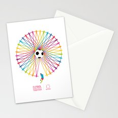 Futbol Brings People Together Stationery Cards