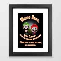 Super Mario Bros. Drain … Framed Art Print
