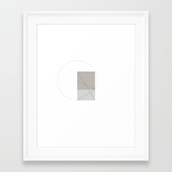 #391 Constructing another golden ratio – Geometry Daily Framed Art Print