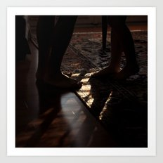 Feet in Shadow Art Print