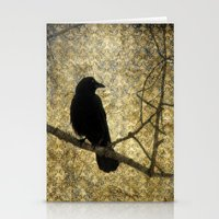 Crow Of Damask Stationery Cards