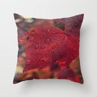 Fall Drops II  Throw Pillow