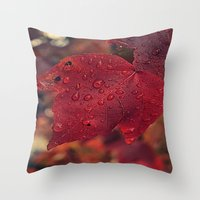 Fall Drops II  Throw Pillow