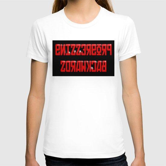 Progressing Backwards (reversed out) T-shirt