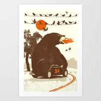 BEAR RACE Art Print