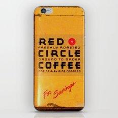 Red Circle Coffee iPhone & iPod Skin