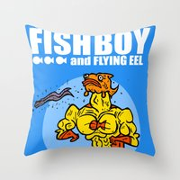 The Uncredible Fish Boy and Flying Eel! Throw Pillow