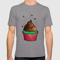 Cupcake Mens Fitted Tee Tri-Grey SMALL