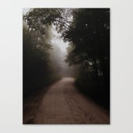 Canvas Print featuring Foggy Road by Steve Naylor
