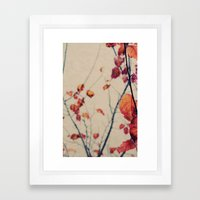 Contrasted Fall Framed Art Print