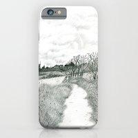 iPhone & iPod Case featuring Crail coastal path: Kingdom of Fife, Scotland [Pencil version] by Grant Wilson