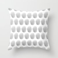 Watercolour Polkadot Gre… Throw Pillow