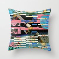 BLUE BALLS (Space Is The… Throw Pillow