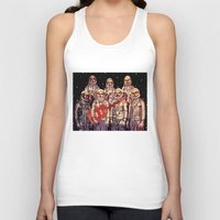 Astronauts With Guitar Unisex Tank Top