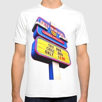 Best Burgers Sign Mens Fitted Tee White SMALL