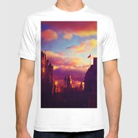 London Sunset Mens Fitted Tee White SMALL