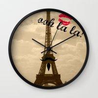 ooh la la Wall Clock