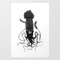 Beer Squid Art Print
