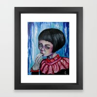 The Girl with Silver Hands  Framed Art Print