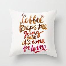 Coffee & Wine – Brown … Throw Pillow