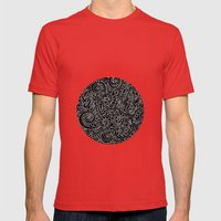 - Burnt - Mens Fitted Tee Red SMALL