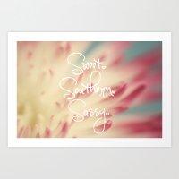 Sweet. Southern. Sassy. Art Print