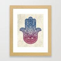 Talk To The Hamsa Framed Art Print