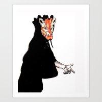Giraffe Mask Art Print