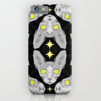 iPhone & iPod Case featuring Sphynx Cat Black Pattern by chobopop