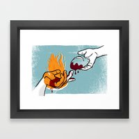 Satan Possesses Judas (by Shed Labs) Framed Art Print