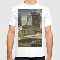 London North Bank Mens Fitted Tee White SMALL