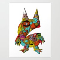 monster Art Prints featuring MONSTER by Tyson Bodnarchuk