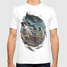 Watercolor Koi SMALL White Mens Fitted Tee