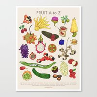 Bizarro Fruit - A to Z poster Canvas Print
