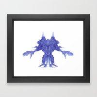 Rorschach Monster Framed Art Print