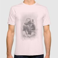 Night Rider Mens Fitted Tee Light Pink SMALL