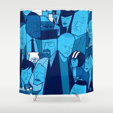Breaking Bad (blue version) Shower Curtain