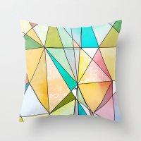 Geo - Mosaic  Throw Pillow